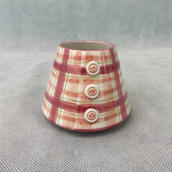 Yankee Candle Small Jar Shade Topper Pink Plaid